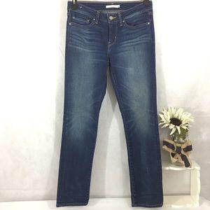 Levi's 712 Slim size 28 jeans stretch distressed